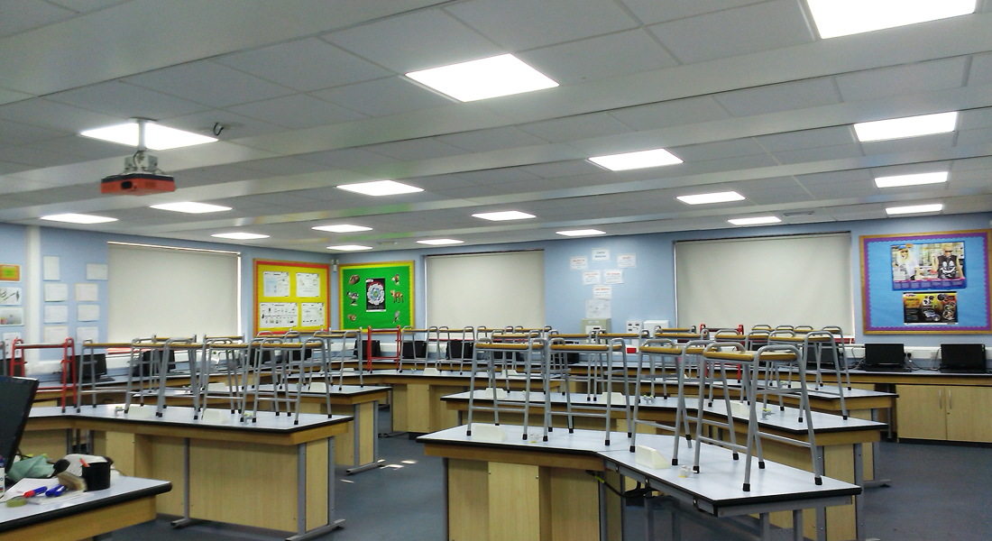 Ashton Community Science College led lighting project
